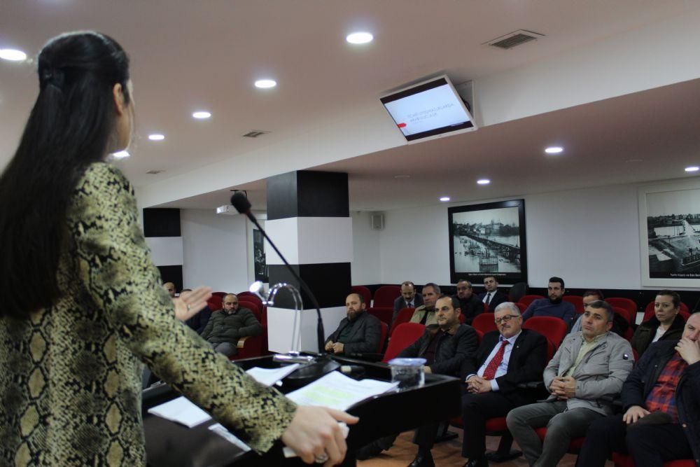 """""""Ticari Uyuşmazlıklarda Arabuluculuk"""" Konulu Seminer ÇTSO Konferans Salonu'nda Düzenlendi"""