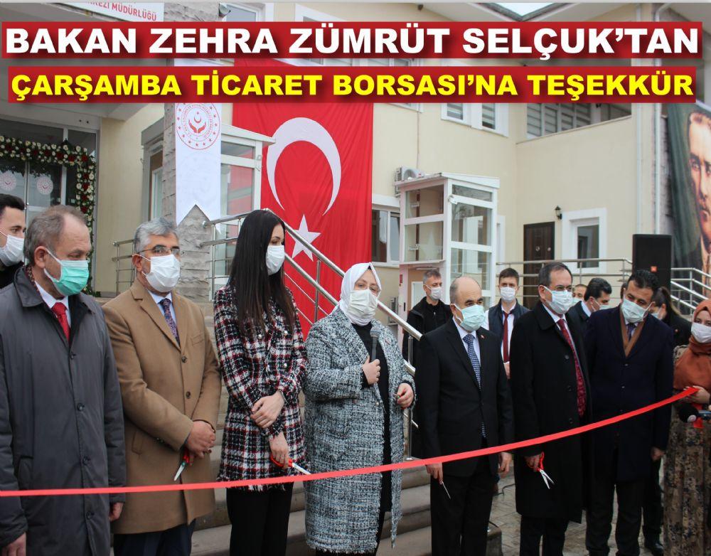 Bakan Zehra Zümrüt Selçuk'tan ÇTB'ye Teşekkür