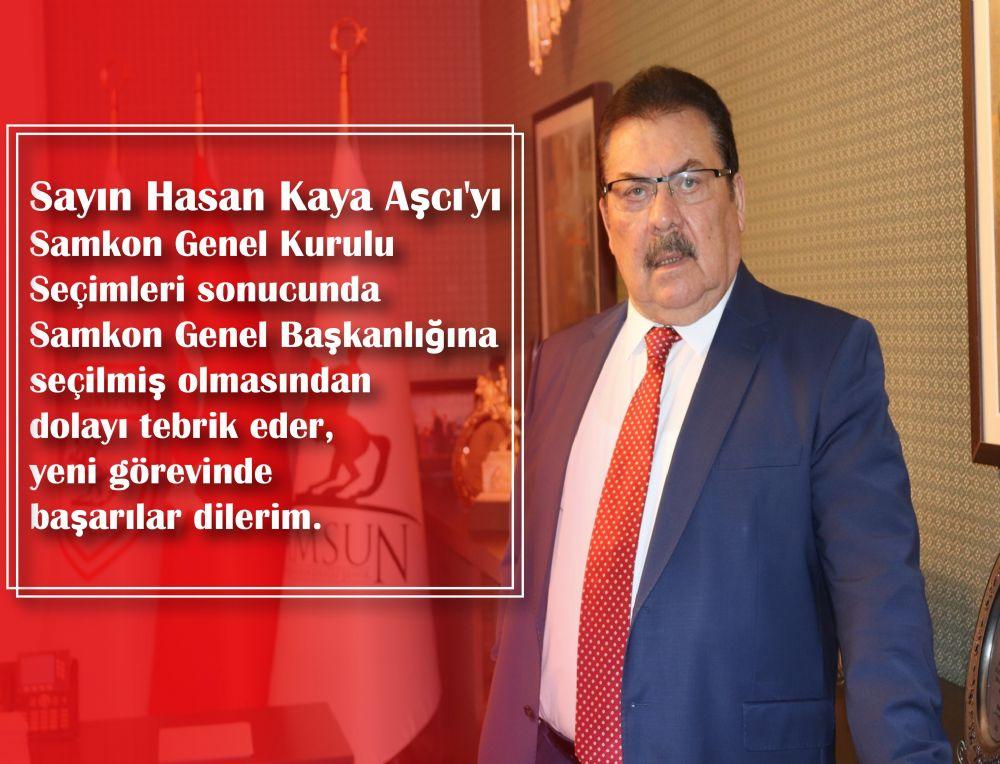 Çtb Başkanı YILMAZ'dan Samkon Başkanı Aşcı'ya Tebrik Mesajı