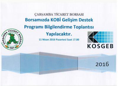 Kobi Gelişim Destek Programı Bilgilendirme Toplantısı