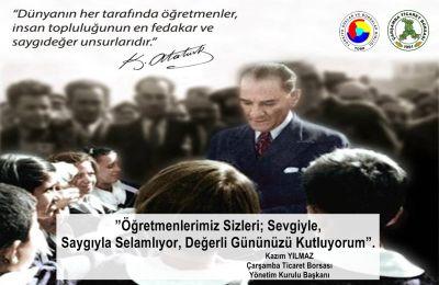 """Kazım YILMAZ. """" Öğretmenlerimizi Sevgiyle, Saygıyla Selamlıyorum """" ."""