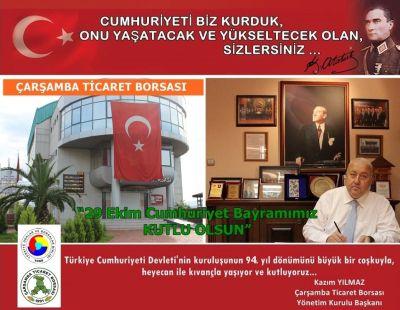 """"""" Cumhuriyetimizin 94. Yılı Kutlu Olsun """" ."""