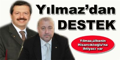 Başkanımız Kazım YILMAZ'dan Hisarcıklıoğlu'na Destek