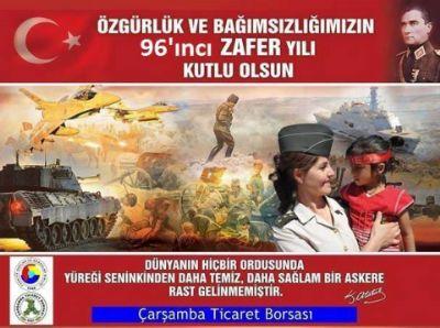 """"""" Özgürlük ve Bağımsızlığımızın, 96'ıncı Zafer Yılı Kutlu Olsun! """""""