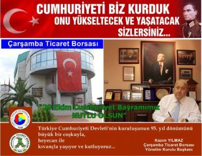 Türkiye Cumhuriyeti Devleti'nin Kuruluşunun 95. Yıl Dönümünü Büyük Bir Coşkuyla, Heyecan ile Kıvançla Yaşıyor ve Kutluyoruz.