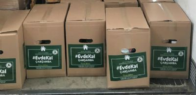 Çarşamba Ticaret Borsası'ndan 2 Bin Koli Gıda Yardımı