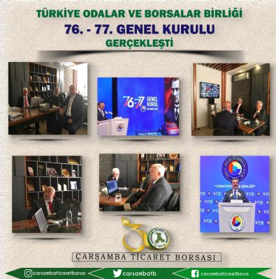Türkiye Odalar ve Borsalar Birliği'nin 76. ve 77. Genel Kurulu Gerçekleşti
