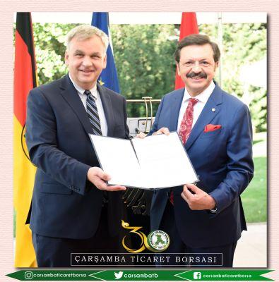 Tobb Başkanı Hisarcıklıoğlu'na Devlet Nişanı