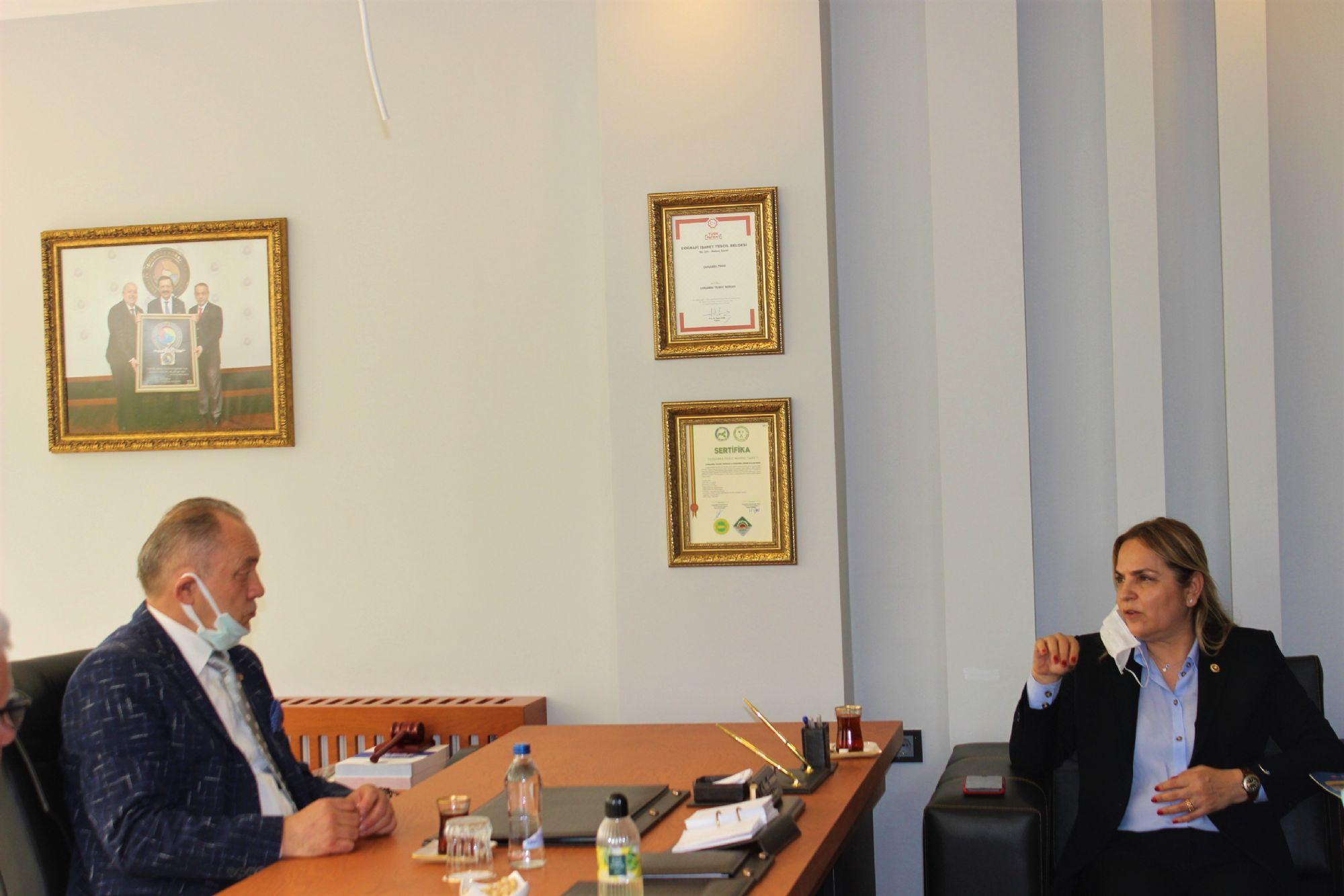 Cumhuriyet Halk Partisi Heyeti ÇTB'yi Ziyaret Etti