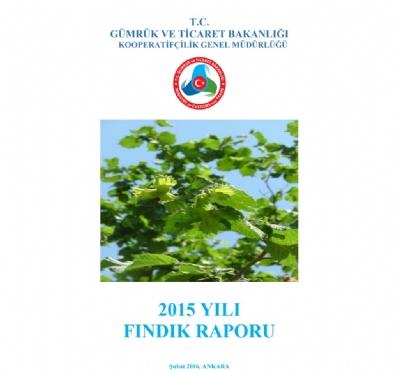 2015 Yılı Fındık Raporu